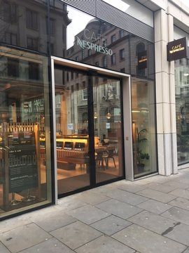 Nespresso Automatic Door Installation Central London